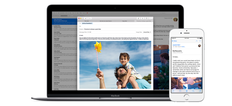 Configurar o Apple Mail com sua conta de e‑mail